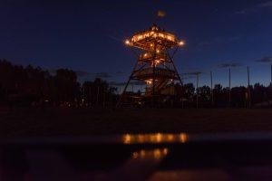 Der Lagerturm bei Nacht